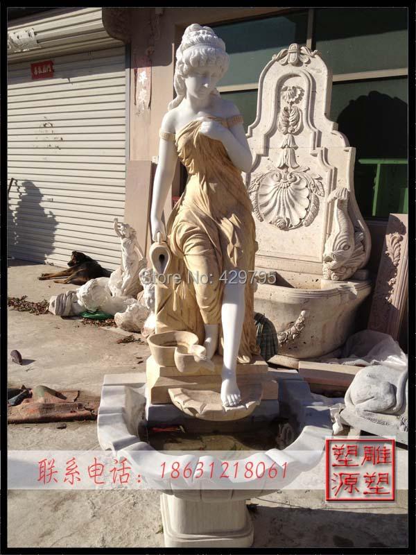 marble western character statue courtyard decoration European manmade goddess sculpture wallfountain factorysupply freeshipping - chunjing cao's store