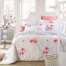 2016 New 4-Pieces Floral Printed Luxury Bedding Sets King Size Queen Bed Set Duvet Cover Bed Sheet Linens Cool Feeling(China (Mainland))