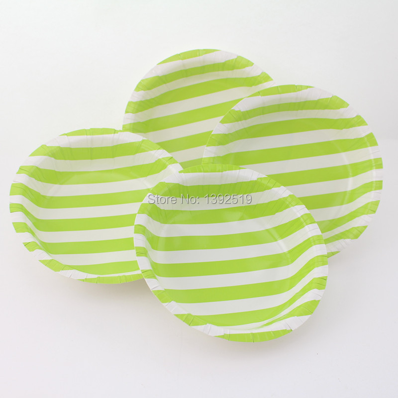 Free Shipping 48pcs Green disposable Paper Bowl for BBQ kitchen Fast Food Lovely for Baby Shower School Party Birthday Decor(China (Mainland))