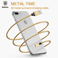Baseus 1M Stainless steel Aluminium alloy Full All Metal Data cable Plug charger Sync Line USB
