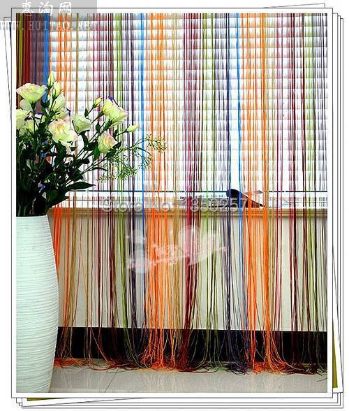 150*300 colorful string curtain shower curtain fringe panel room divider home decoration window vanlance free shipping(China (Mainland))