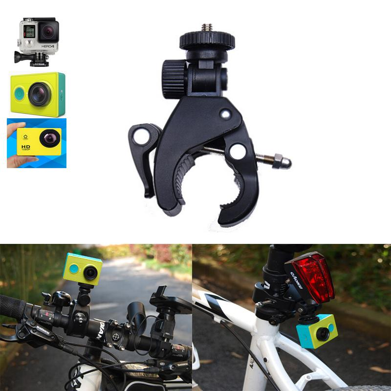 Bike/ Motorcycle Holder Handlebar Handle Bar Camera Mount Handlebar Seatpost Clamp Roll Bar Mount For gopro hero 4 3 xiaomi yi(China (Mainland))