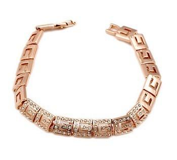 Top Quality 18K Rose Gold Plated Bracelet Jewelry Austrian Crystal CZ Diamond Wholesale ZYH018  ZYH198
