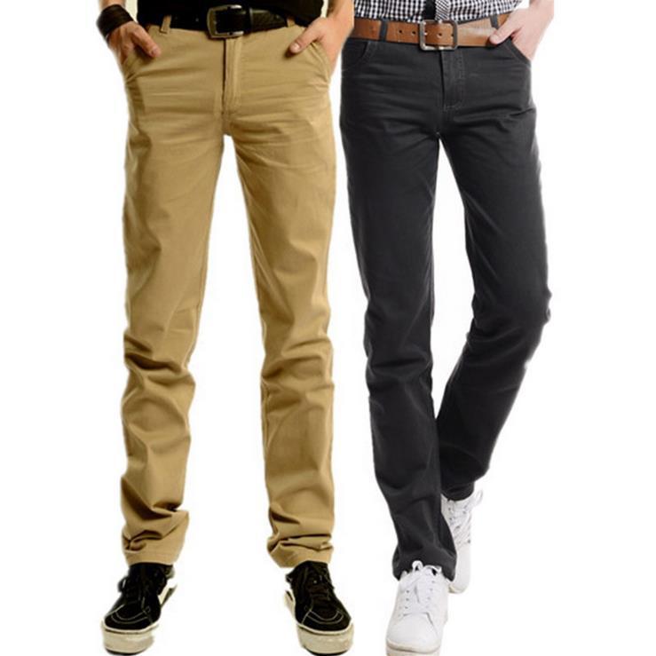 Summer Fashion Men Slim Pants New European pure Cotton candy color Casual Long Suit Trousers Big Size Men slacks Free Shipping(China (Mainland))