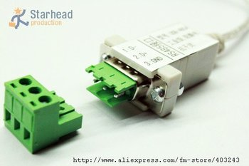 Industrial USB 2.0 to RS-485 RS485 Converter Adapter, 600W surge protection, High transmission speed & distance