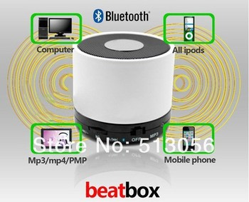 2012 beatbox Mini Bluetooth speaker for iphone4s/iphone 5 free shipping 50pc