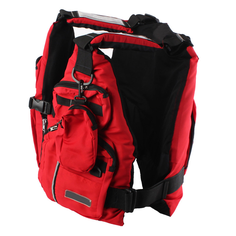 Adult Buoyancy Aid Sailing Canoeing Boating Fishing Life Jacket Lifesaving Vest Red Waterproof Cloth + EPE Foam(China (Mainland))