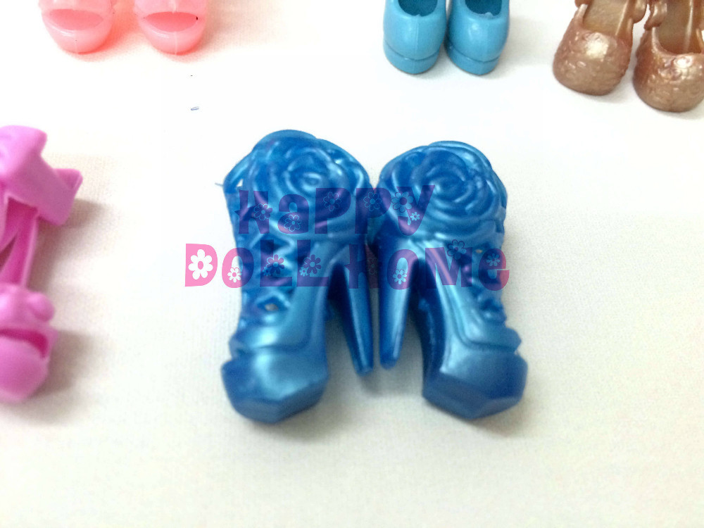 Random Decide 10 Pairs Luxurious Colourful Assorted Sneakers for Barbie Doll Equipment with Completely different types Trend  high-heeled sneakers