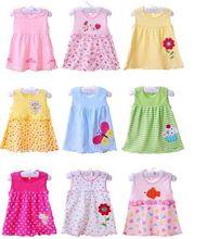 New Summer Cute Baby Girl 100% Cotton Slip Newborn Infant Baby Princess Dress 0-12 Months Baby Clothing(China (Mainland))