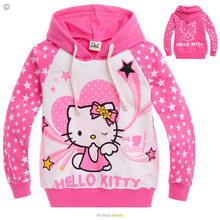 2015 new Spring Hello Kitty girls clothes long sleeve children Hoodies & Sweatshirts hoodies sweatshirts Cotton(China (Mainland))