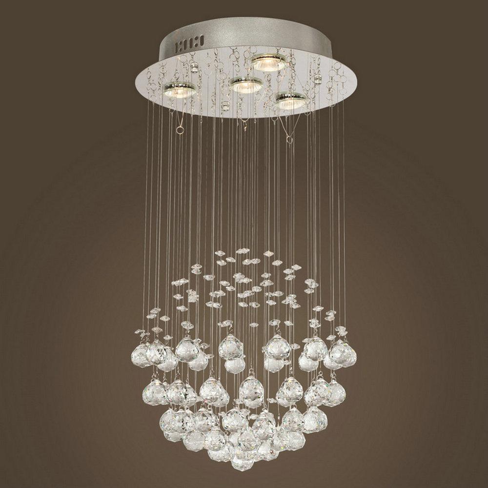 MAMEI Free Shipping Indoor Modern Crystal Pendant Light In Globe ...