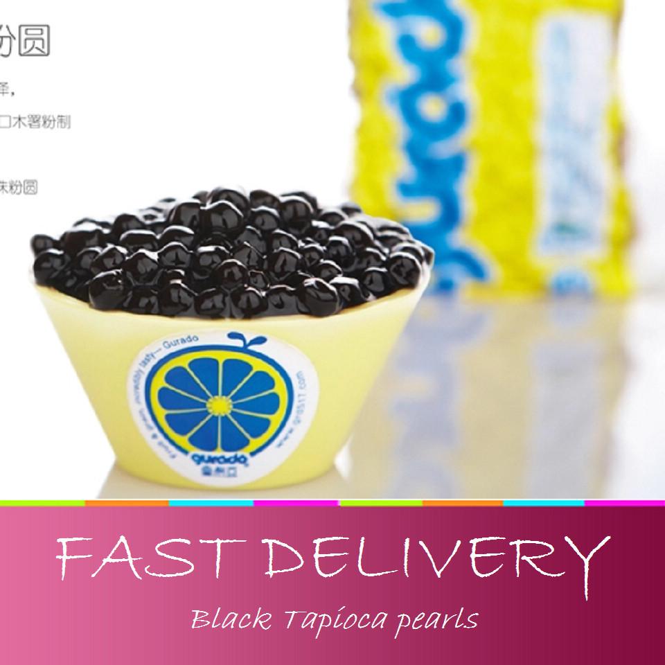 Free shipping Black Tapioca pearls beans pearl milk tea jelly milk tea raw materials vacuum loaded 500g(China (Mainland))