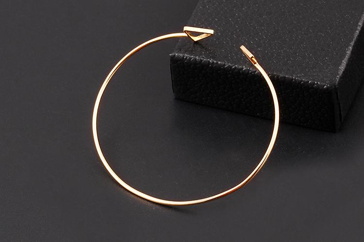 2016 модный геометрическая двойной треугольник браслет колесные диски с покрытием золото серебристый браслеты мода ювелирные изделия дизайн открытие для женщин
