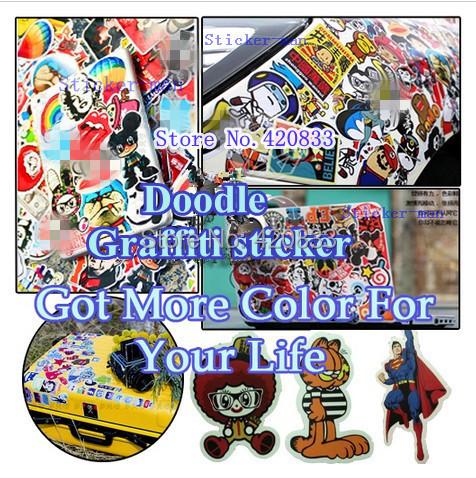 Wholesale Waterproof  Graffiti  sticker Car  sticker car decor doodle sticker  motorcycle  Travelling Case sticker  PC stickers