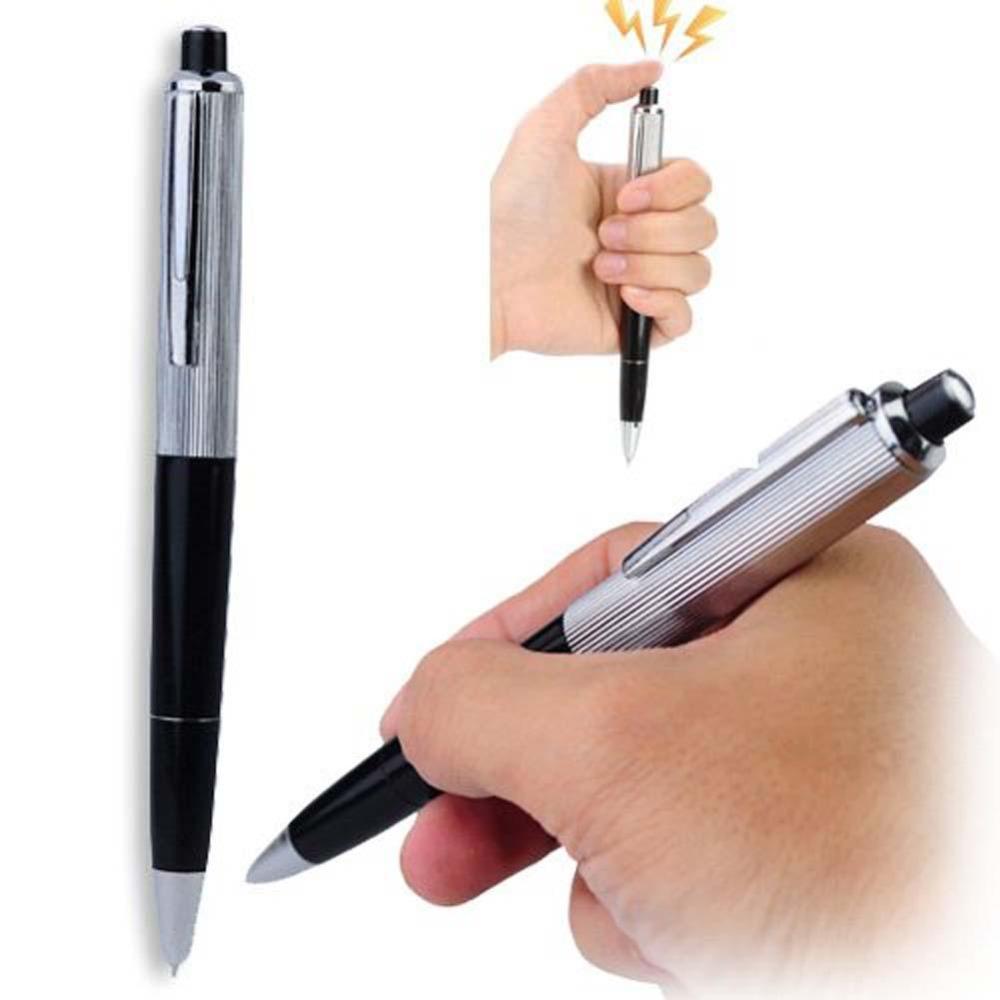 2015 Electric Shock Pen Toy Utility Gadget Gag Joke Funny Prank Trick Novelty Friend's Best Gift(China (Mainland))