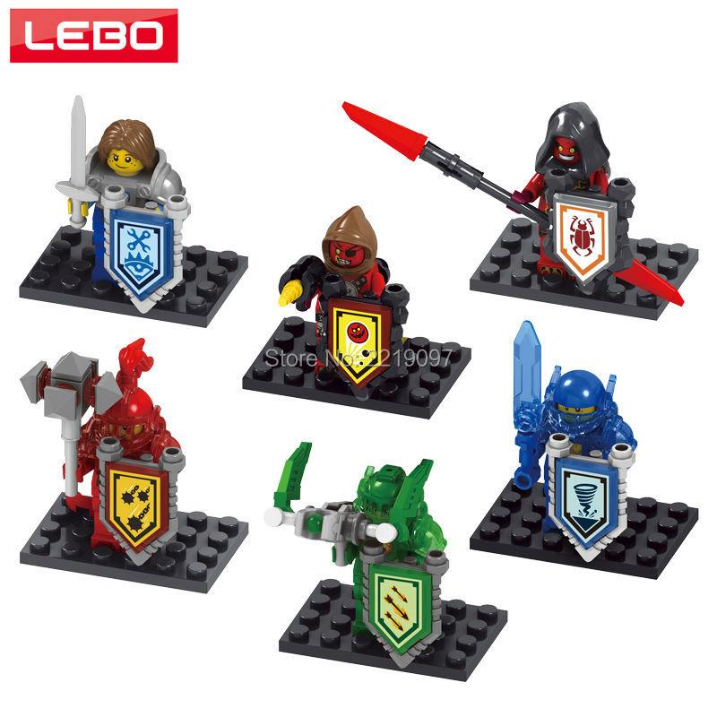 6 Nexo Knights Future Minifigures Castle Warrior Figures Nexus Building Blocks Sets Kids Toys Gifts Compatible Legoelieds  -  LEBO TOY CITY store