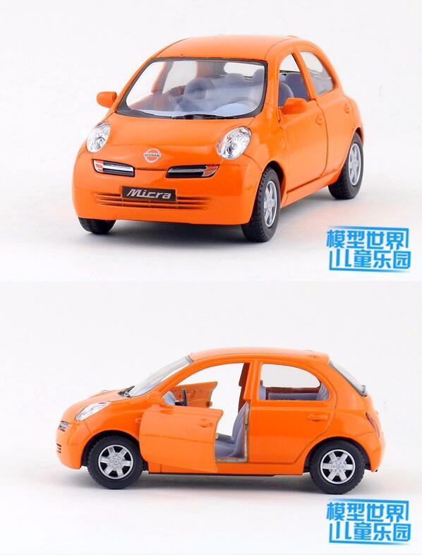 Gift 12.5cm 1:28 little Nissan micra car alloy model pull back collection game boy children toy(China (Mainland))