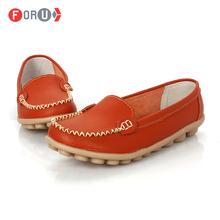 Scarpe donna 2015 cuoio genuino scarpe da donna appartamenti 8 colori mocassini scivolare sulla scarpe mocassini scarpe piane delle donne più il formato(China (Mainland))