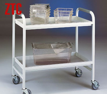 Double layers kitchen handcart with tray plate,stainless steel hotel diner cart,mobile food transport cart trolley RCS-FAM09(China (Mainland))
