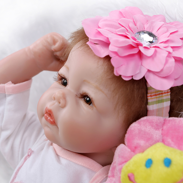 Free Shipping 52cm 22 inch latest silicone reborn baby doll toys, play house reborn bebe baby toy birthday gift girls brinquedos(China (Mainland))