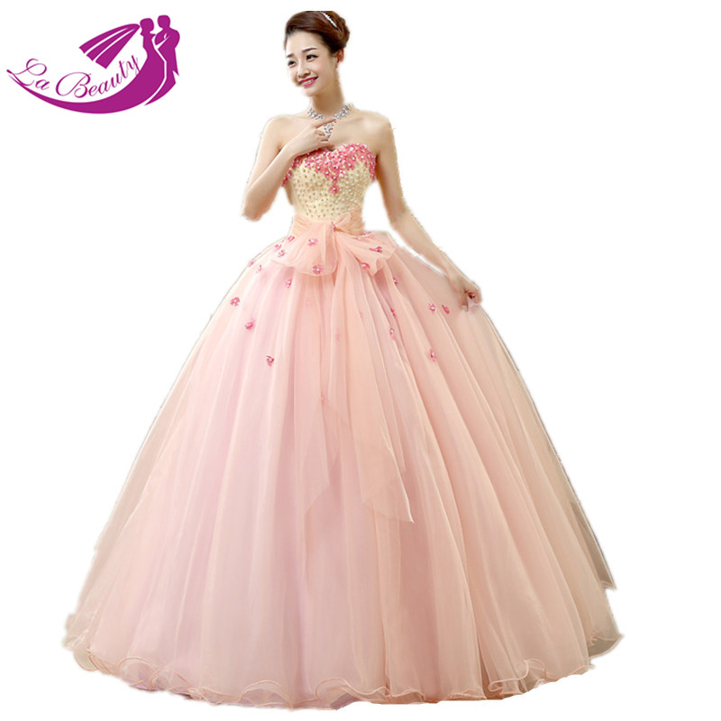 Hot Pink Quinceanera Dresses Ball Gown Sweetheart Shoulder Floral Beading Debutante Vestidos Baratos WA081 - Loving shopping online store