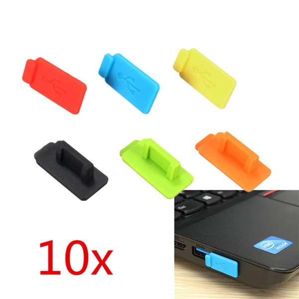 10pcs Colorful Rubber Silicon Protective Dustproof USB Plug Cover Stopper AntiI Dust USB Stopper For PC Computer Laptop TV BOX(China (Mainland))