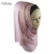 2016 New Design JERSEY Scarf Jersey Shawl Cotton Cotton Lace Wedding Hijab Muslim Hijab Scarves Maxi Retail 11 colors ch050 z35(China (Mainland))