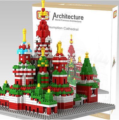 LOZ Nano World Architecture Russia Moscow Vasile Assumption Cathedral DIY Model Building Block Toy Gift - xiaofeng xiu's store