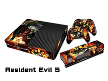 Resident Evil 5 Vinyl Skin Sticker Protector for Microsoft Xbox One and 2 controller skins Stickers for XBOXONE TN-0093
