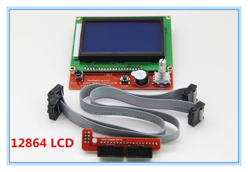Здесь можно купить  WHOLESALE!!!  5PCS/LOT Smart  Controller Reprap Ramps 1.4 12864 LCD  3D printer reprap  LCD Dispaly  XT0009-3D  Электронные компоненты и материалы