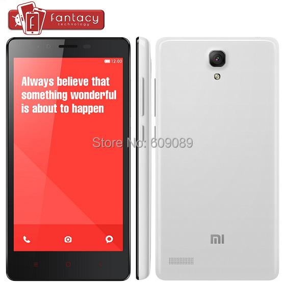 Original Xiaomi Redmi Note 4G FDD LTE Quad Core Red Rice Hongmi Note Android 4.4 MIUI V6 Phone 5.5 '' 1280x720 IPS 2GB RAM 13MP(China (Mainland))