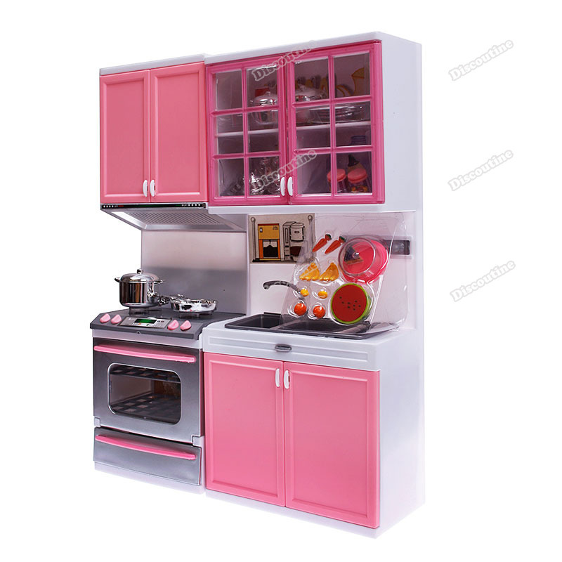 discoutine Currently! Kids Children Kitchen Pretend Play Cook Cooking Cabinet Stove Cookware Toy Set Top sales(China (Mainland))