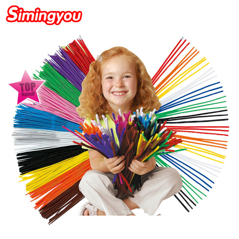 Simingyou 2016 100pcs Montessori Materials Chenille Children Educational Toy Crafts For Kids Colorful Pipe Cleaner Toys Craft(China (Mainland))