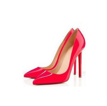 valentine shoes zapatos mujer women shoes high heel women pumps  shoes woman white and red bottom high heels(China (Mainland))
