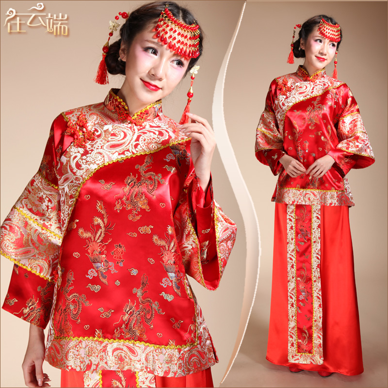 Chinese style wedding show clothes wedding dress pratensis for Chinese style wedding dress