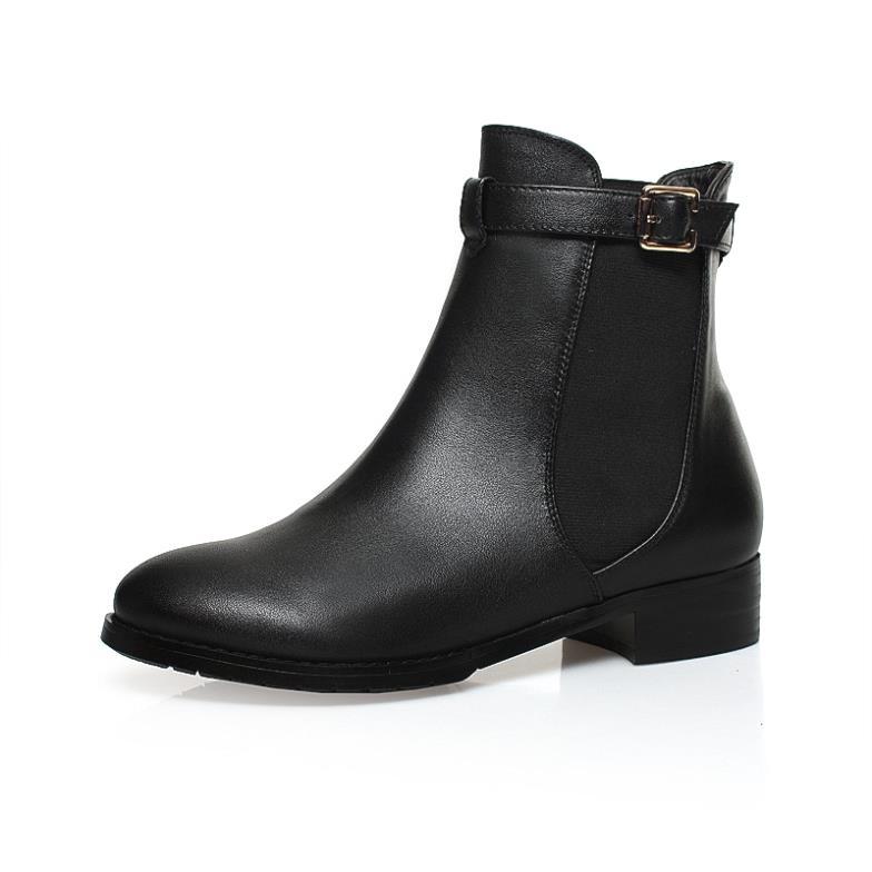 Здесь можно купить  New 2015 New Arrival A Size34-42 Women Martin Boots European Style Sexy Med heel Round Toe Square heels Classic Black  R2988  Обувь