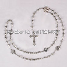 2014 500pcs/lot + Rosaries,bead Fashion Necklaces Rosary Necklaces+rosario/rosaries Necklace Christ,religious Crucifix/cross(China (Mainland))