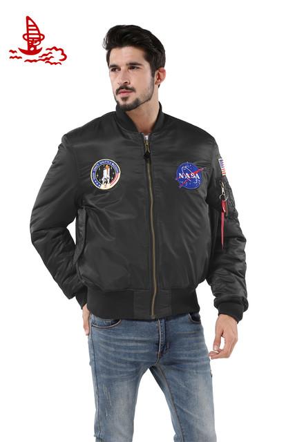 Freelee 2016 Весна тонкий НАСА Флот летающих куртка, Толстый Зимний американский ...