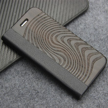 Buy Luxury Wood Case iPhone 7 iPhone 7 plus Real Wood Cover Leather iPhone 7 Stylish Design Protect Shell iPhone 7P for $11.99 in AliExpress store