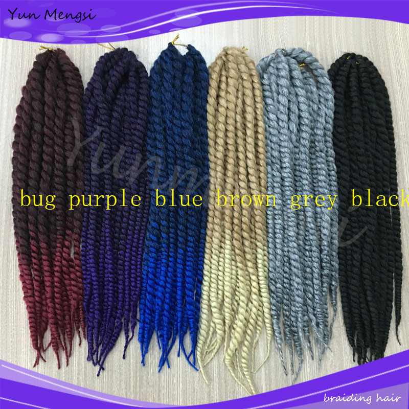 Crochet Hair Packs : 22 130g/pack Havana Mambo Twist Crochet Braid Hair Synthetic Ombre ...