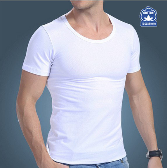 Quality Classical Men Cotton Crew Neck Undershirts Better Sweat The Same Color As a Pack(Size:M L XL XXL) Free shipping