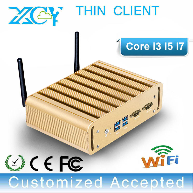 support remote desktop client ptiplex mini pc xcy pc i3 i5 i7 htpc with 1*MIC and SPK hot on sale(China (Mainland))