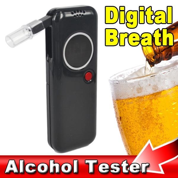 Prefessional Police Digital Breath Alcohol Tester Breathalyzer Analyzer Alcoholic Dectector LED Backlight , Drive Safety(China (Mainland))