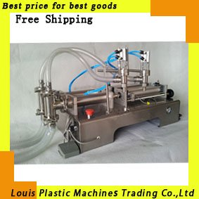 Free Shipping liquid or paste filling machine, pneumatic, semi-automatic filler, stainless steel,double heads(China (Mainland))