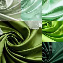150x50cm Satin thick small fabric yarn curtain diy silks and satins green series high density lint-free