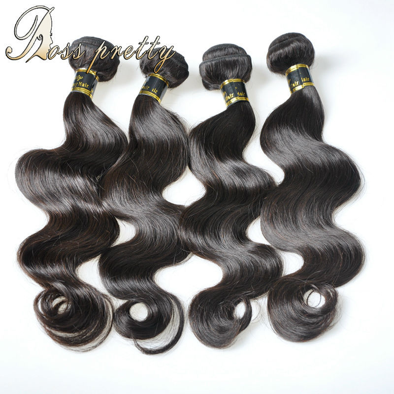 Ross pretty 7A quality Brazilian Virgin Hair weave natural human hair extension 4bundles brazilian body wave hair Best Buys(China (Mainland))