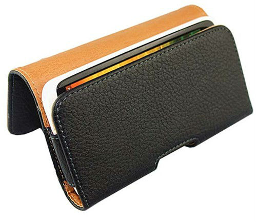 bulk black Waist to hang pu Leather Pouch Leather Holster cover for sony M36h Xperia ZR case(China (Mainland))