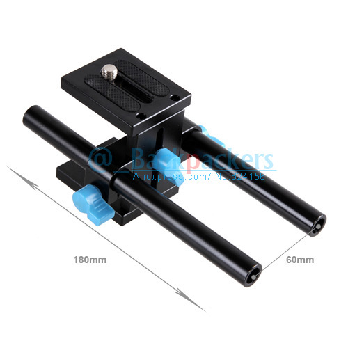 DSLR Camera Movie Kit 15mm Rod System tripod head with 1/4 screw mount For 5D2 5D3 Photography(China (Mainland))