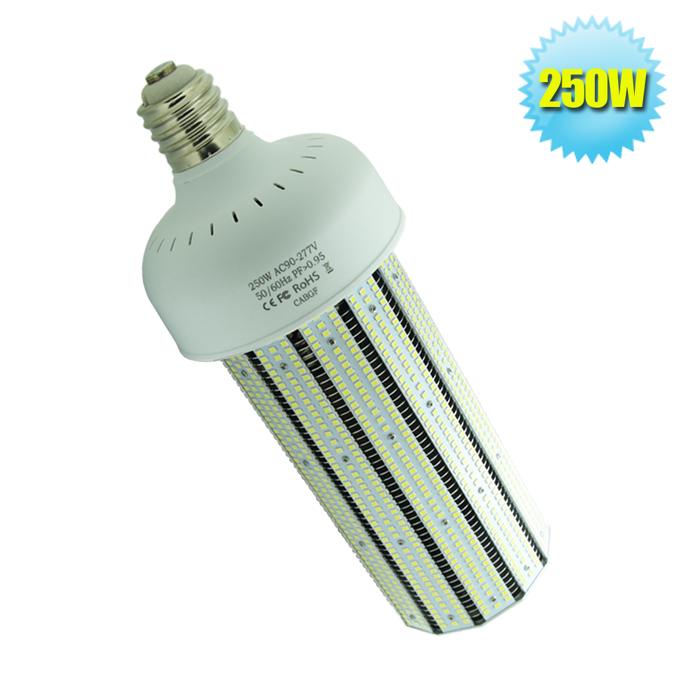 5 Years Warranty Street and Area Lighting 250W LED Corn Bulb Lamp E40 Large Screw Base Canopy Fixture Light CE FCC RoSH UL(China (Mainland))