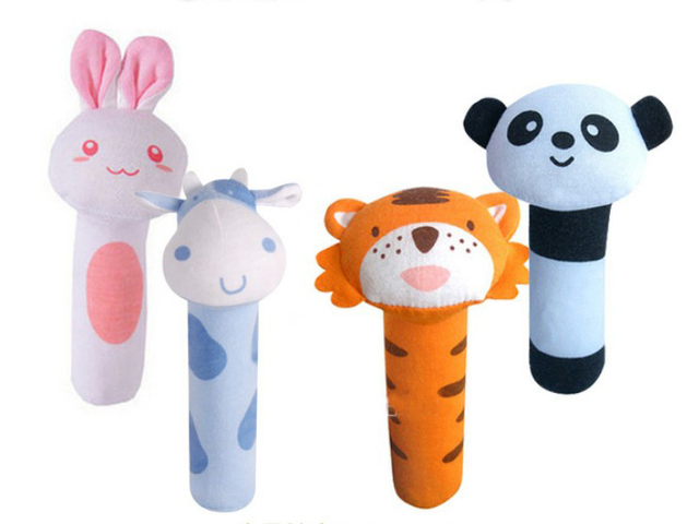 Soft Sounding Plush Toy Cut Rabbit Animals Musical Educational Toy 4 Piece Play Set
